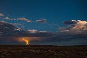 Lightning Strike Art - Valley Of The Gods Utah by Steve Gadomski