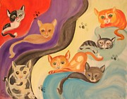 Valley Of The Kittens Print by Rachel Carmichael