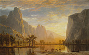 Bierstadt Prints - Valley Of The Yosemite Print by Albert Bierstadt