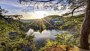 River Scenes Prints - Valley Sunrise Print by Bill  Wakeley