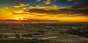 Emmett Framed Prints - Valley Sunset Framed Print by Robert Bales