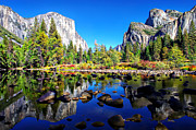 Granite Photos - Valley View Reflection Yosemite National Park by Scott McGuire