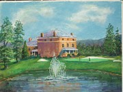 Golf Pastels Posters - Valley View12 Poster by Bruce Schrader