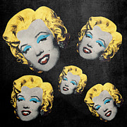 Dracula Digital Art Metal Prints - Vampire Marilyn 5 Metal Print by Filippo B