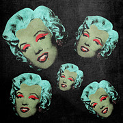 Dracula Digital Art Metal Prints - Vampire Marilyn 5a Metal Print by Filippo B