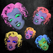 Green Monster Digital Art Prints - Vampire Marilyn 5b Print by Filippo B