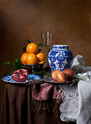 Van Beijeren - Banquet With Chinese Porcelain And Fruits Print by Levin Rodriguez