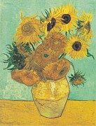 Masterpiece Digital Art Prints - Van Gogh Sunflowers Print by Nomad Art And  Design