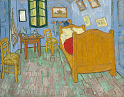 Vintage Painter Prints - Van Gogh The Bedroom Print by Nomad Art And  Design