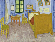 Arles Painting Framed Prints - Van Goghs Bedroom in Arles Framed Print by Vincent Van Gogh