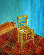 Joseph Frank Baraba Painting Prints - Van Goghs Vincents Chair Print by Joseph Frank Baraba