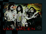 80s Framed Prints - Van Halen - Aint Talkin Bout Love Framed Print by Absinthe Art By Michelle LeAnn Scott