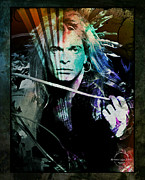 80s Framed Prints - Van Halen - David Lee Roth Framed Print by Absinthe Art By Michelle LeAnn Scott