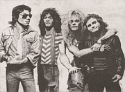 Van Halen Metal Prints - Van Halen Metal Print by Jeff Ridlen