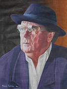 Celebrity Portraits Painting Originals - Van Morrison by David Paterson