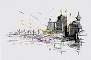 Vancouver Giclee Prints Paintings - Vancouver Art 004 by Catf