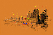 Vancouver Giclee Prints Paintings - Vancouver Art 006 by Catf