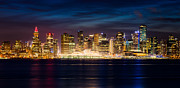 City Lights Prints - Vancouver at Christmas Print by Alexis Birkill