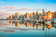 Vancouver Art - Vancouver at sunset by JR Photography