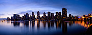 Vancouver Photo Prints - Vancouver Bc Skyline By Cambie St. Bridge Print by Terry Elniski