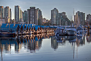Yaletown Framed Prints - Vancouver boat reflections Framed Print by Eti Reid