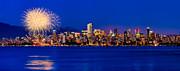 Vancouver Celebration Of Light Fireworks 2013 - Day 1 Print by Alexis Birkill