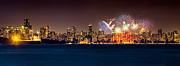 Vancouver Celebration Of Light Fireworks 2013 - Day 2 Print by Alexis Birkill