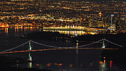 Vancouver At Night Framed Prints - Vancouver evening Framed Print by Chris Scharf