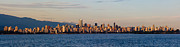 Vancouver Photos - Vancouver Evening Skyline by Terry Elniski