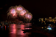 Vancouver Photo Prints - Vancouver Fireworks 7 Print by Terry Elniski