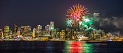 City Photos - Vancouver fireworks panorama by Pierre Leclerc