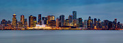 North Vancouver Metal Prints - Vancouver from Lonsdale Quay Metal Print by Alexis Birkill