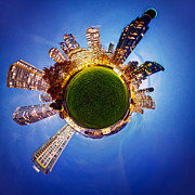 Blue Hour Prints - Vancouver Little Planet Print by Alexis Birkill
