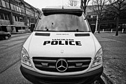 Police Van Framed Prints - Vancouver police mercedes response van vehicle BC Canada Framed Print by Joe Fox