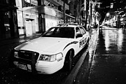 Patrol Car Prints - Vancouver police squad patrol car vehicle BC Canada Print by Joe Fox