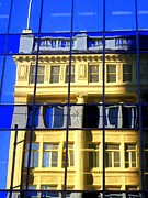 Glass Wall Prints - Vancouver Reflections 2 Print by Randall Weidner