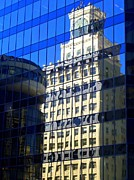 Glass Wall Prints - Vancouver Reflections 4 Print by Randall Weidner