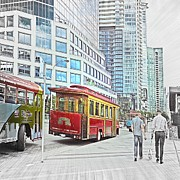 Vancouver Sightseeing Print by Carol  Lux Photography