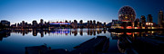 False Creek Prints - Vancouver Skyline At False Creek Print by Terry Elniski
