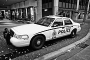 Patrol Car Acrylic Prints - Vancouver transit police squad patrol car vehicle BC Canada Acrylic Print by Joe Fox
