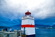 Burrard Inlet Posters - Vancouvers Brockton Point Lighthouse Poster by Ken McAllister