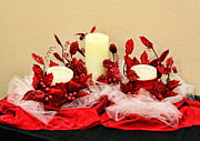 Netting Posters - Vanilla Candle Display Poster by Linda Phelps