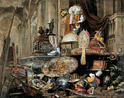 Pieter Framed Prints - Vanitas Allegory Framed Print by Pieter Boel