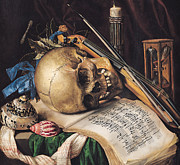 Notes Paintings - Vanitas by Simon Renard de Saint Andre