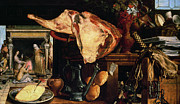 Raw Metal Prints - Vanitas Still Life Metal Print by Pieter Aertsen