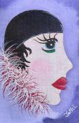 Female Clown Paintings - Vanity by JoNeL  Art