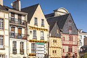Breton Posters - Vannes Brittany France Half Timbered Buildings Poster by Colin and Linda McKie