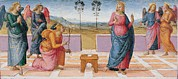 Archangel Prints - Vannucci Pietro Known As Perugino Print by Everett
