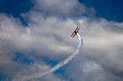 Stearman Prints - Vapor Trail at the Wings and Wheels Airshow Print by David Patterson