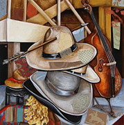 Cowboy Hat Mixed Media - Vaquero de the Hats by Katia Von Kral